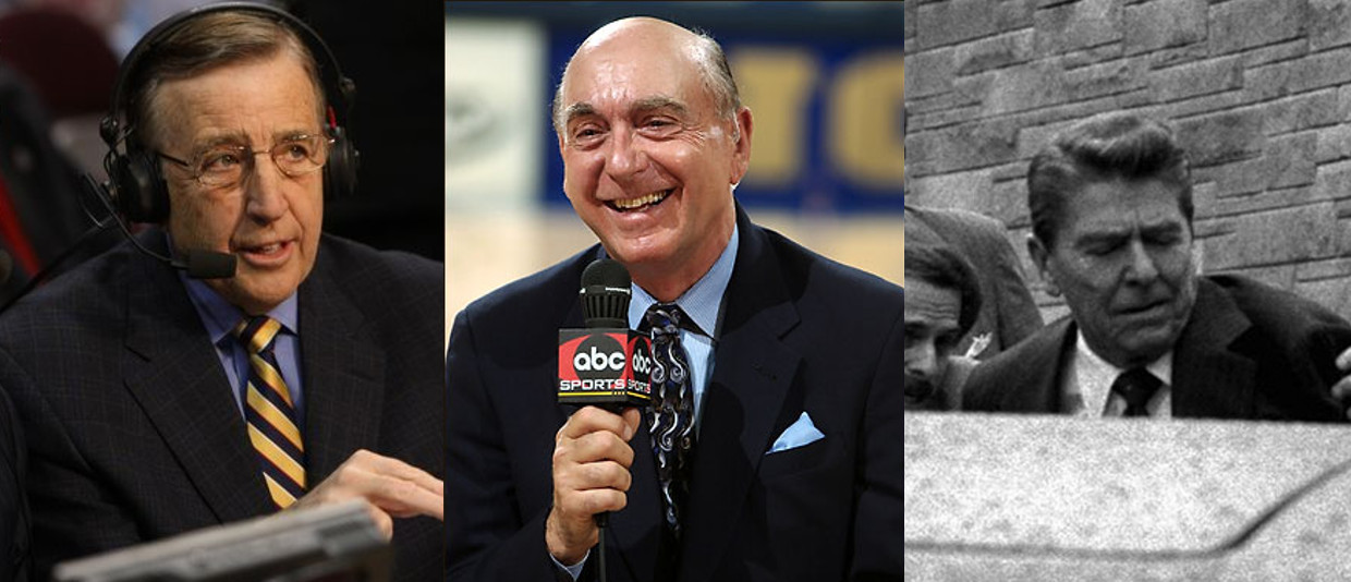 Brent Musburger Dick Vitale Ronald Reagan