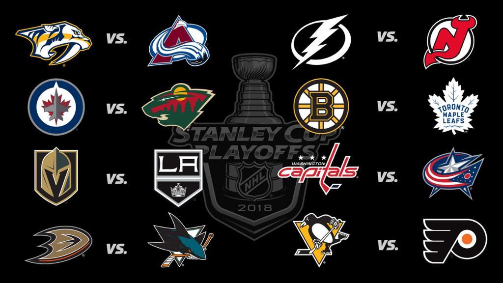 NHL 2018 Playoffs Brackets