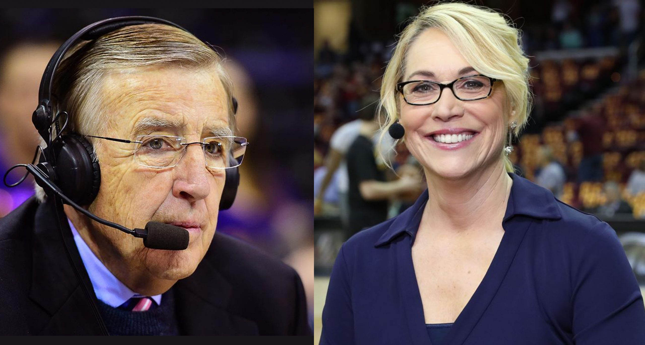 Brent Musburger and Doris Burke